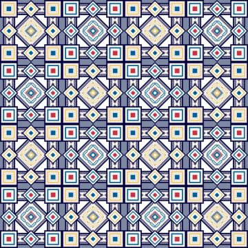 Free vector Blue vintage square pattern #3522