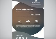 Free vector Blurred business flyer with wavy forms #646