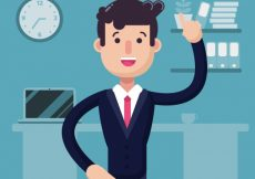Free vector Businessman with an idea #664