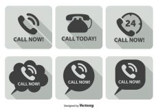 Free vector Call Now Icon Set #271