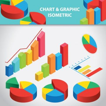Free vector Chart and graphic isometric collection #224