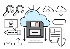 Free vector Cloud Computing Linear Icons #929