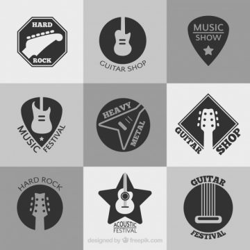 Free vector Collection of music festival logos #1887