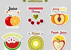Free vector Collection of nice fruit stickers #2199