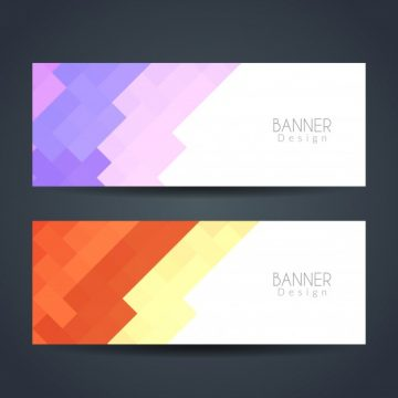 Free vector Colorful modern banners #3487