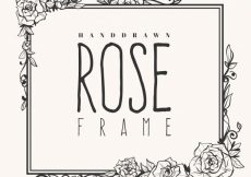 Free vector Cute frame of hand-drawn roses #182