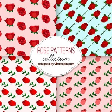 Free vector Decorative patterns of roses #2600