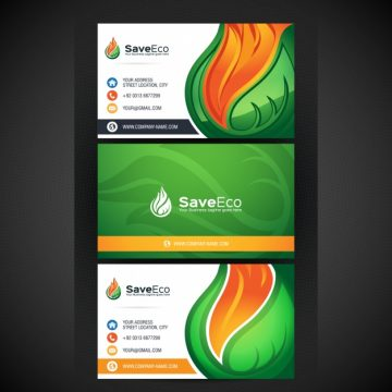 Free vector Eco business card design #3441