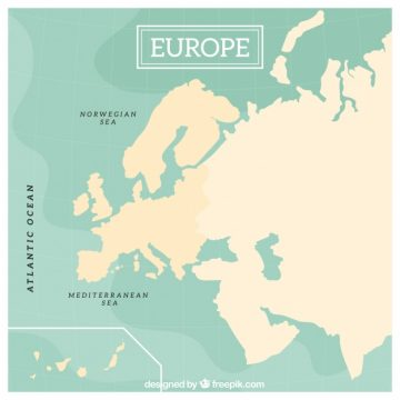 Free vector Europe map design #1278