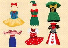 Free vector Fancy Dress Costume Vector Pack #60