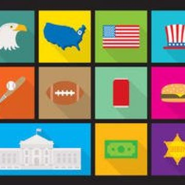 Free vector Flat Made In USA Flat Vectors #2060