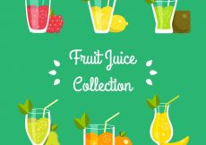 Free vector Flat selection of tasty fruit juices #3456
