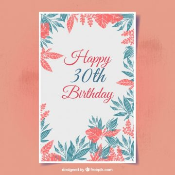 Free vector Floral birthday card #2717