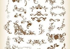 Free vector Floral Elements Collection #2901