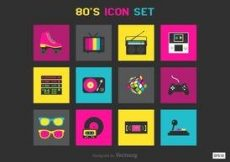 Free vector Free 80s Vector Icons #2048