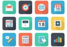 Free vector Free Flat App Vector Icons For Mobile And Web #2757
