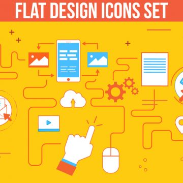 Free vector Free Flat Design Vector Icon Set #3199