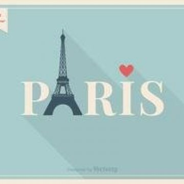 Free vector Free Vector Eiffel Tower Paris Lettering #2063
