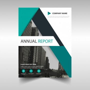 Free vector Green abstract modern annual report template #3212