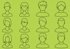 Free vector Hairstyle Line Icons #913