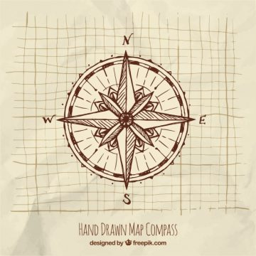 Free vector Hand drawn compass #1254