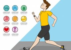 Free vector Health graphics and running boy #976
