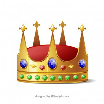 Free vector Isolated crown with blue and green jewels #758