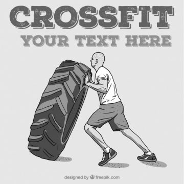 Free vector Man crossfit background with a wheel #298