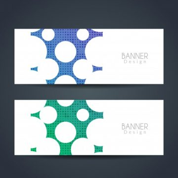Free vector Modern colorful banners #3496