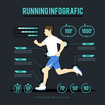 Free vector Modern infographic of physical activity #972