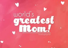 Free vector Mother's day red background #400