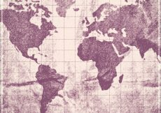 Free vector Old world map background #2819