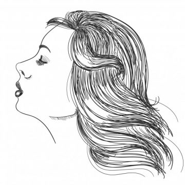 Free vector Portrait of a woman with beautiful hair #2083