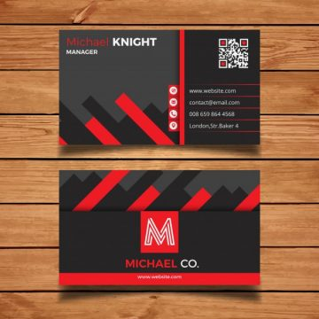Free vector Red and grey creative business card #2996