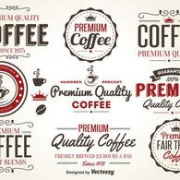 Free vector Retro Coffee Label Vectors #2352