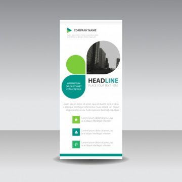 Free vector Roll up business template in leaf style #3258