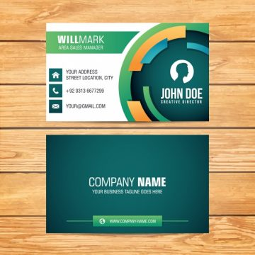 Free vector Rounded shape business card design #3414