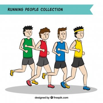 Free vector Running people collection #1026