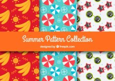 Free vector Set of three summer patterns #2380