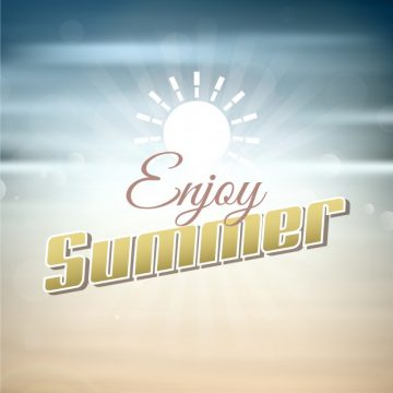 Free vector Summer background with typography #2912