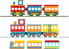 Free vector Toy train collection #2473