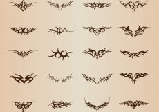 Free vector Tribal Tattoo Element Vector Set #3397