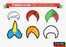 Free vector Turban Icons Free Vector Pack #1776