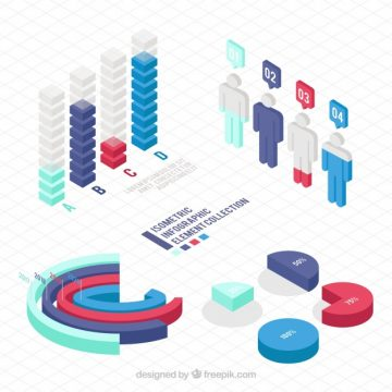 Free vector Useful elements for infographics in isometric design #2293