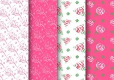 Free vector Variety of cute patterns of roses #1490