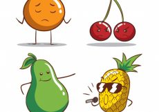 Free vector Variety of funny fruit characters #246