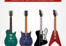 Free vector Various flat electric guitars #3632