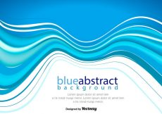 Free vector Vector Abstract Blue Wave Background #2052