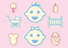 Free vector Baby Mini Icons Set #795
