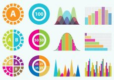 Free vector Colorful Statistics Icons #3100